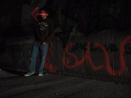 Nightime and Light Graffiti by danny-valentine