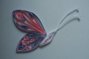Quilled butterfly +moved+ by Kelzky13