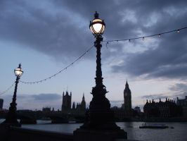 big ben as the sun goes down by stucker1987