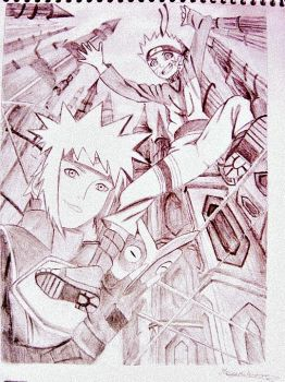 Naruto shippuden the lost tower draw by MegumiNoLove