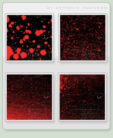 8 black and red icon textures by demonic-madness