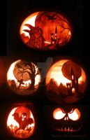 Some Pumpkins from previous years by saoirsesushi