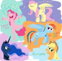 Flat Ponies Compilation by Graystripe64