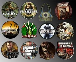 Game Icons VI by sirithlainion