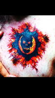 Gears of War Lambent Crimson Omen Tattoo by Dranlu