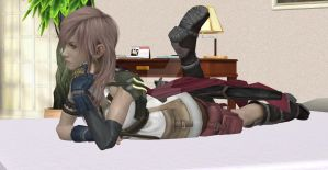 Final Fantasy XIII: Lightning gets bored by NovaCrystallisXIII