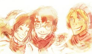 Golden Trio by EveIo