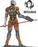 Cyborg Ninja (Gray Fox) Backview with Gun weapon by Jinyol