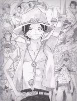 Portgas D. Ace and the Whitebeard Pirates by who-is-the-dead-one