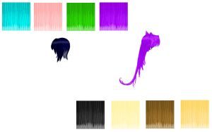 Color Pop Hair Texture Pack Download + .spa file by SoganaxSaeki