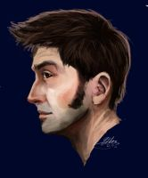 David Tennant Profile. -Art Trade- by Scoutrageous