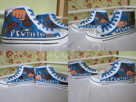 My PewDiePie shoes by Julisia2