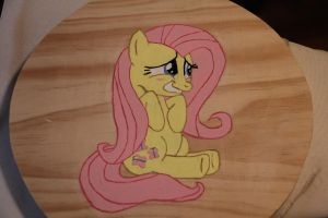 WIP: Painted Fluttershy by farondk