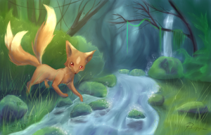 Mystical Forest Fox by Psunna