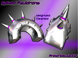 Spiked Pauldrons - AN003 by AnimeNebula003