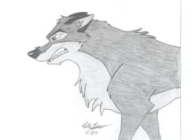 Angry Balto by skipshark773