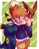 Gary with two cute things by RocketHaruka