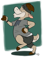 Jogging Goat by valdo-wolf