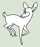 Deer line art (FREE) by homeqrown
