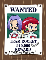 WANTED Team Rocket by caycowa