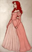 Pink Dress Ariel, colored by inthelaurels