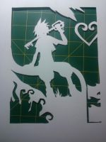 Sora Paper Silhouette by ImperialMocha