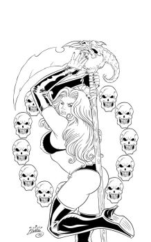 Sexy Lady Death Ink #1 by SWAVE18