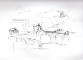 Spartan at the Airfield (Gift) by NewLegend1