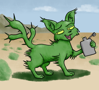 Cactus Cat by Okk