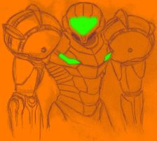 Samus Aran Orange by chr5d50