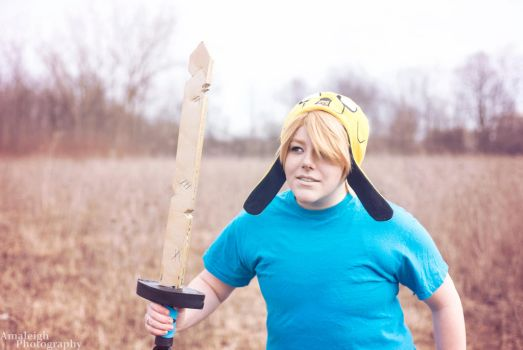 Finn the Human and Jake the Hat by Dreamcherub