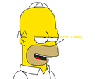Homer Simpson thinks about turkey by MarcosLucky96