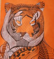Zentangle Tiger by Sheepy-Pie