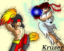 Ryu Vs. Liu Kang by Kruzer
