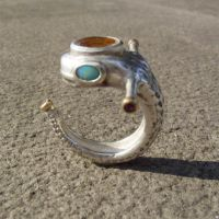 snaky creature ring 2 by morpho2012