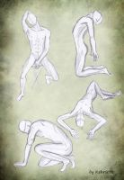 sketches 2(male anatomy) by Kehrseite