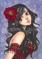 aceo - scarlet by demon-rae