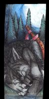 Dylan sleeping in the night bookmark by Suenta-DeathGod
