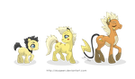 Thunder Family Ponikemon by MySweetQueen