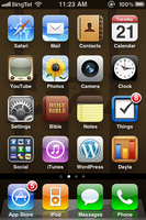 iPhone Home Screen, 2010-09-21 by BoltClock