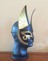 Large Egyptian Anubis Half Mask - side view by nondecaf