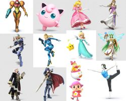 Smash Bros. Female Fighters by UKD-DAWG