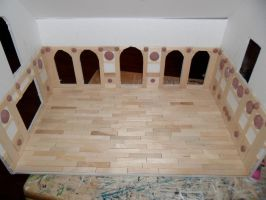 Gothic-ish Dollhouse 1:24 WIP 3 by kayanah