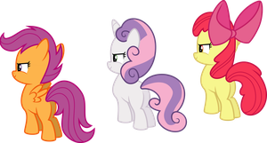 Cutie Mark Crusaders Staring at the Horizon by Jeatz-Axl