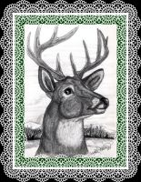 THE GREAT STAG IN WINTER by SCT-GRAPHICS