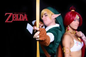 Link and Nabooru by Alexamadden