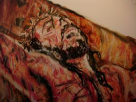 jesus crucified by artkid01