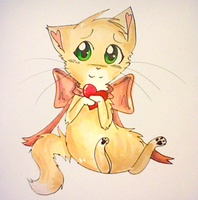 Have some Valentine's Kitty by FoxLover12