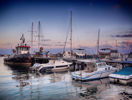 Paphos Harbor HDR by woody1981