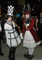 Hattress Alice with Late but Lucky Alice by ArcaneArchery